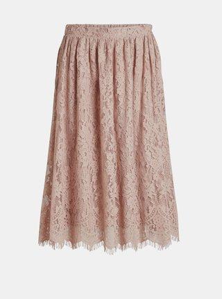 Ružová krajková sukňa VILA Vanira