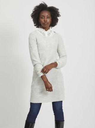 Svetlošedé svetrové šaty VILA Suril