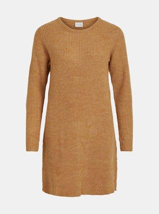 Oranžové svetrové šaty VILA Suril