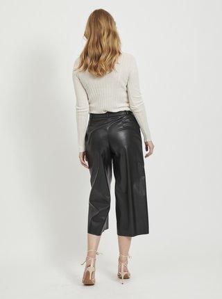 Čierne koženkové culottes VILA Vivi