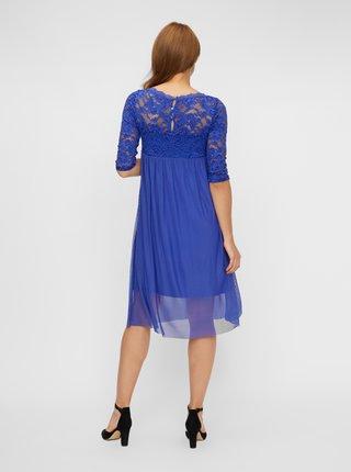 Modré krajkové těhotenské šaty Mama.licious Mivana