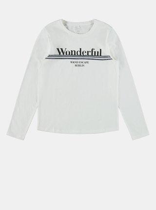 Bílé holčičí tričko name it Olefine