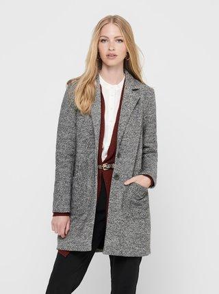 Šedý žíhaný kabát ONLY Arya