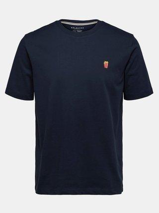 Tmavě modré tričko Selected Homme Hype