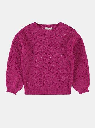 Růžový holčičí svetr name it Nelea