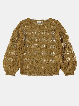 Hnedý dievčenský sveter name it Nelea