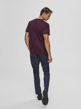 Vínové tričko Selected Homme Cody
