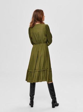 Zelené šaty Selected Femme Callie