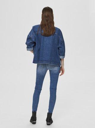Modrá rifľová voľná bunda Selected Femme Victoria