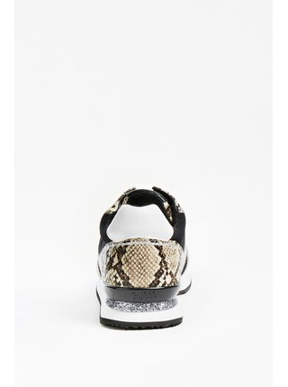 Guess čierne tenisky Agos Genuie Leather Running Shoe
