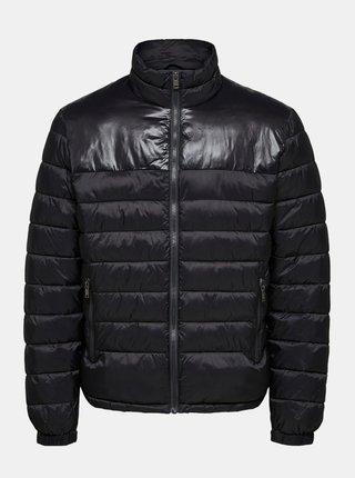 Čierna prešívaná bunda Selected Homme Athan