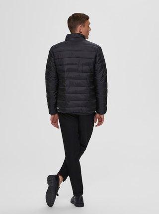 Čierna prešívaná bunda Selected Homme Plastic