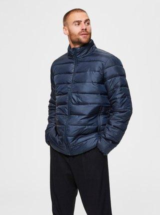 Tmavě modrá prošívaná bunda Selected Homme Plastic