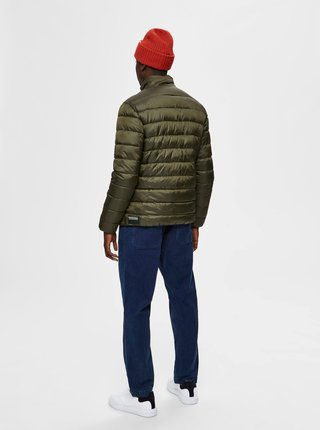 Kaki prešívaná bunda Selected Homme Plastic