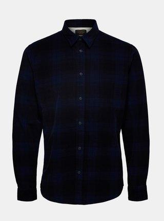Tmavomodrá kockovaná košeľa Selected Homme Adrian