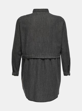 Tmavě šedé košilové šaty ONLY CARMAKOMA Claire