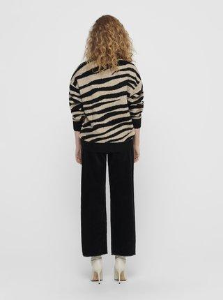 Béžový svetr se zebřím vzorem Jacqueline de Yong Lian
