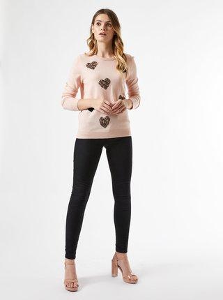 Ružový vzorovaný sveter Dorothy Perkins