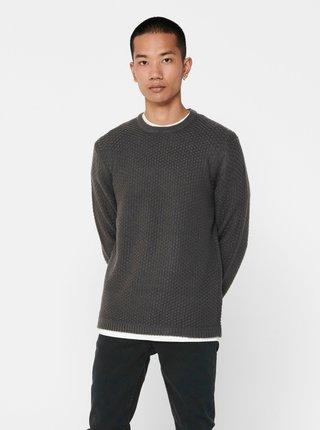 Šedý sveter ONLY & SONS Loocer