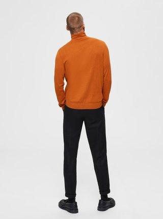 Oranžový sveter Selected Homme Berg