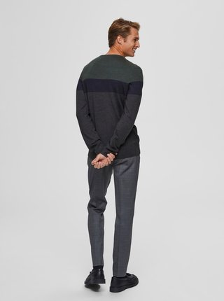 Zeleno-šedý sveter Selected Homme Marvin