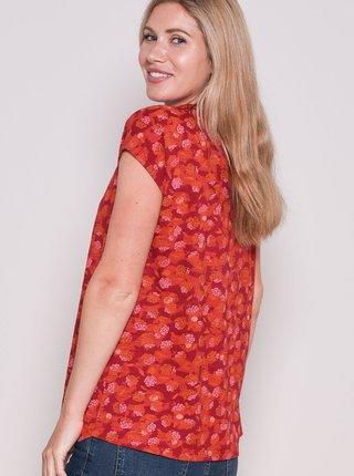 Červené vzorované tričko Brakeburn