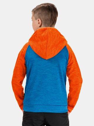 Oranžovo-modrá chlapčenská mikina SAM 73