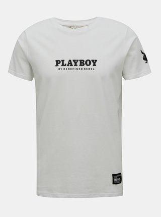 Biele tričko s potlačou na chrbte Redefined Rebel