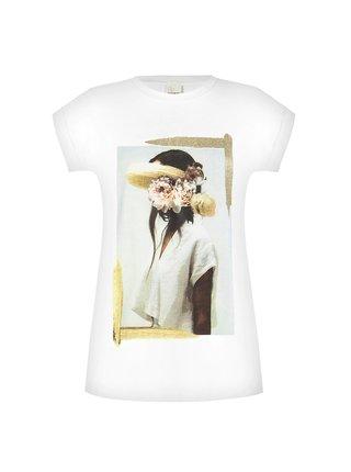 Rinascimento bílé tričko s portrétem