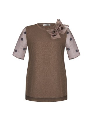 Rinascimento bronzové tričko s mašlí