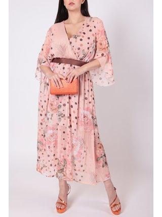 Rinascimento květinové šaty s páskem