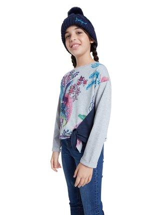 Desigual šedé dívčí tričko TS Edimburgo