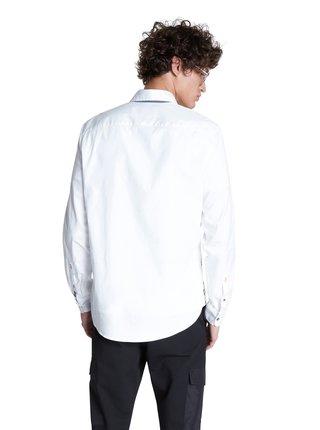 Desigual bílá pánská košile Cam Guido s kapsičkou
