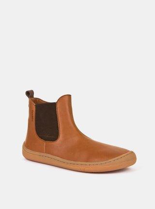Hnedé detské kožené topánky Froddo