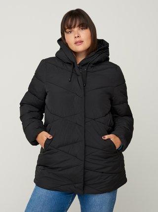 Černá zimní prošívaná bunda Zizzi