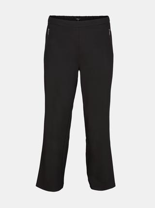 Čierne skrátené nohavice Zizzi