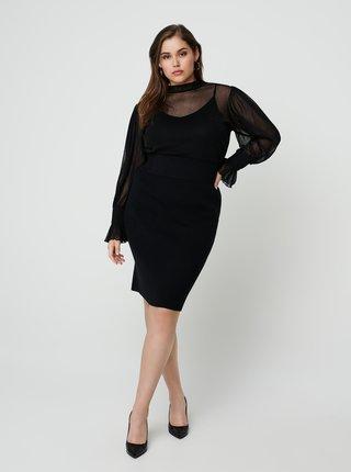 Čierna púzdrová sukňa Zizzi