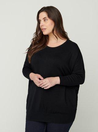 Čierny ľahký sveter Zizzi