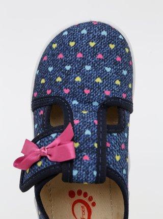 Modré holčičí vzorované boty 3F