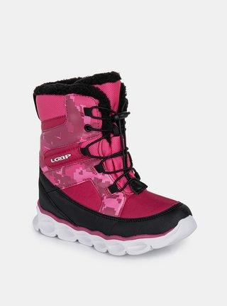 Růžové holčičí zimní boty LOAP Enima