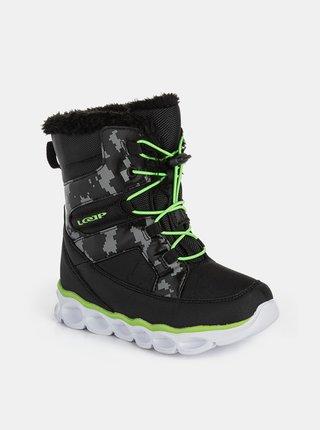 Černé chlapecké zimní boty LOAP Enima
