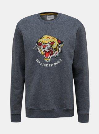 Tmavomodrý sveter ONLY & SONS Memo