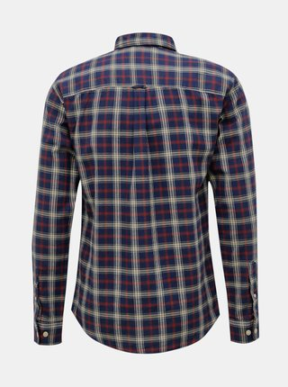Tmavomodrá kockovaná košeľa Selected Homme Matthew