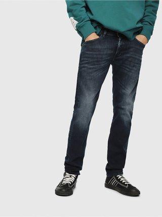 Tmavě modré pánské slim fit džíny Diesel