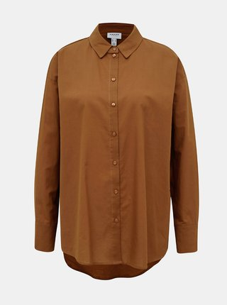 Hnědá volná košile AWARE by VERO MODA India