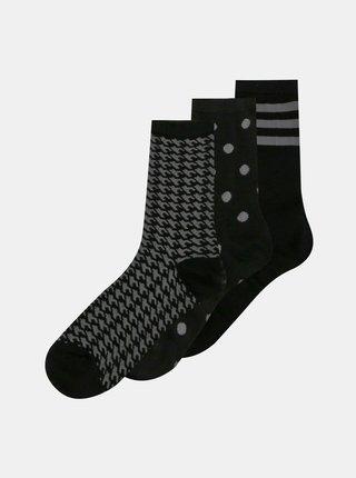 Sada troch párov čiernych ponožiek ONLY Abarna