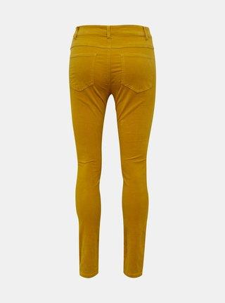 Horčicové menčestrové skinny fit nohavice Jacqueline de Yong Era