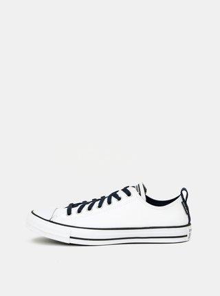 Biele pánske kožené tenisky Converse