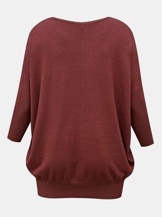 Vínový ľahký sveter Zizzi