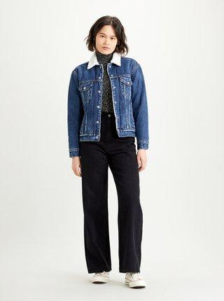 Modrá dámska rifľová bunda s umelým kožúškom Levi's®